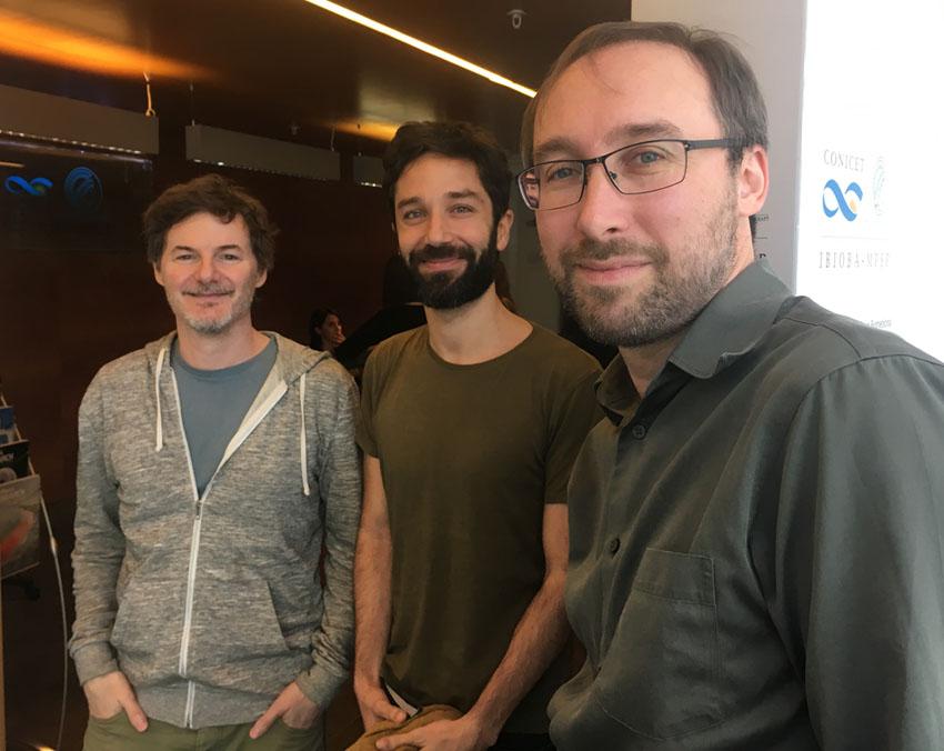 Luis Morelli, Sebastián Romano y Hernán Garcia