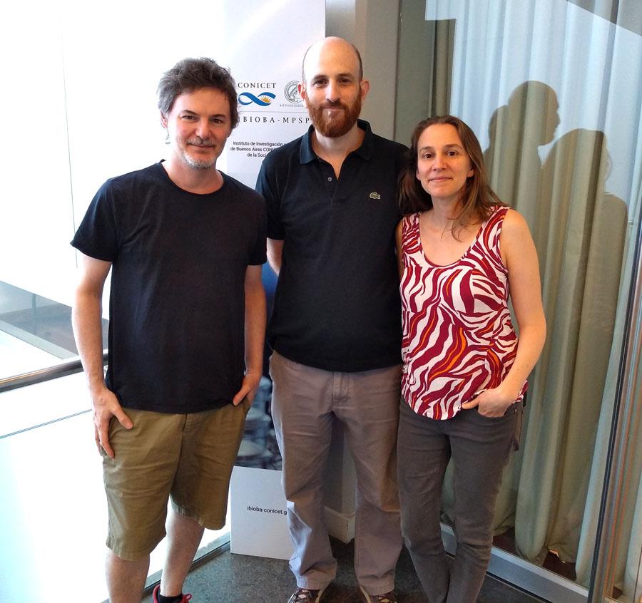 Luis Morelli, Nicolas Frankel y Nara Muraro.-